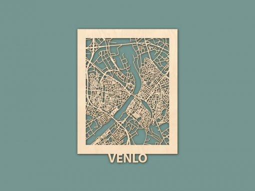 Citymap Venlo (30x40cm) Berken RENDER