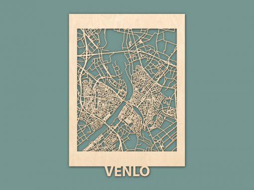 Citymap Venlo (50x70cm) Berken RENDER