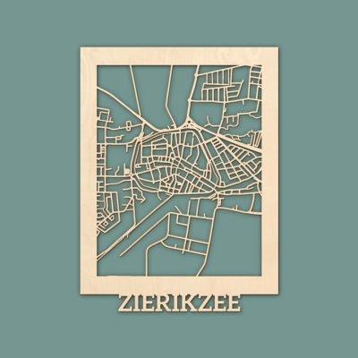 Citymap Zierikzee Berken (30x40cm) RENDER