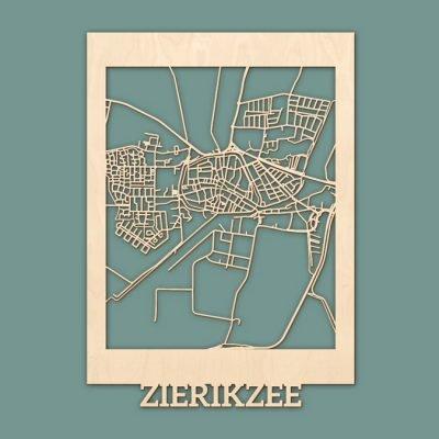 Citymap Zierikzee Berken (50x70cm) RENDER
