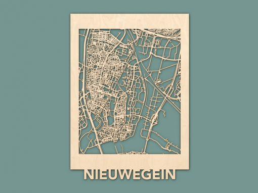 Citymap Nieuwegein Berken (50x70cm) RENDER