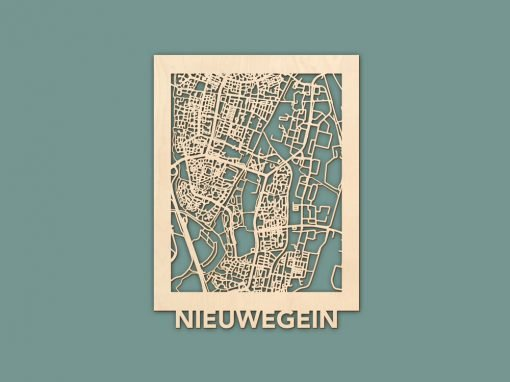 Citymap Nieuwegein Berken (30x40cm) RENDER