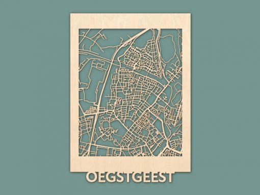 Citymap Oegstgeest Berken (50x70cm) RENDER