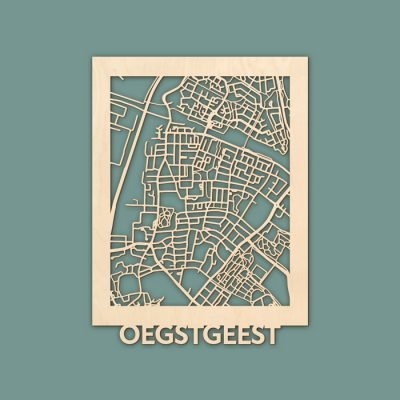 Citymap Oegstgeest Berken (30x40cm) RENDER
