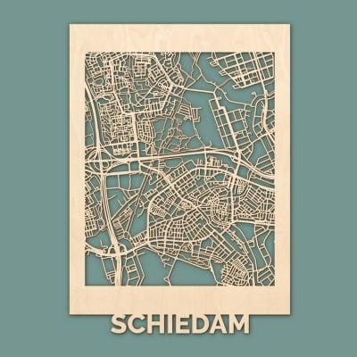 Citymap Schiedam Berken (50x70cm) RENDER