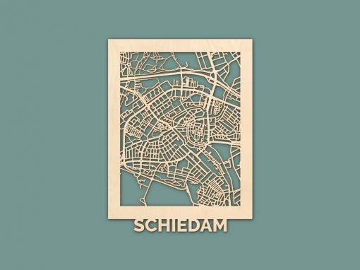 Citymap Schiedam Berken (30x40cm) RENDER