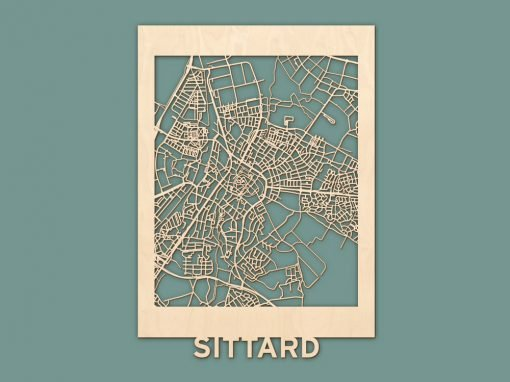 Citymap Sittard Berken (50x70cm) RENDER