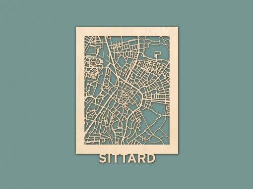 Citymap Sittard Berken (30x40cm) RENDER