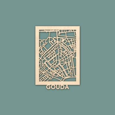Minimap Gouda Berken (21x14,8) citymap RENDER