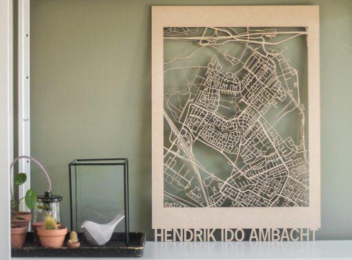 Citymap HI Ambacht MDF 50x70cm