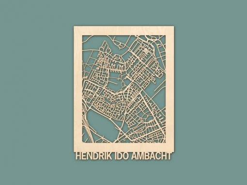 Citymap Hendrik-Ido-Ambacht Berken (30x40cm) RENDER