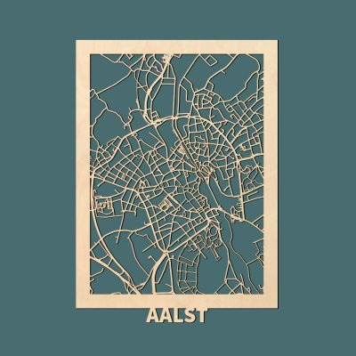 Aalst Citymap 50x70cm Berken Render