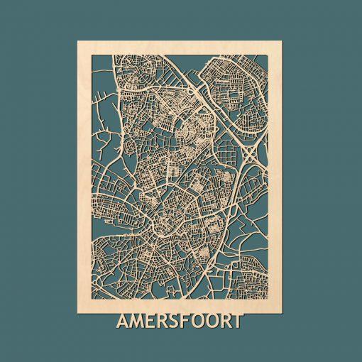 Amersfoort Citymap 50x70cm Berken Render