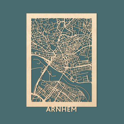 Arnhem Citymap 50x70cm Berken Render