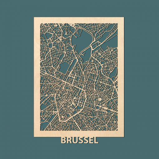Brussel-Citymap-50x70cm-Berken-Render