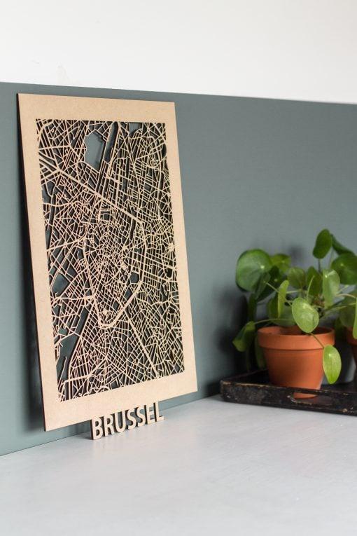 Citymap-Brussel-30x40-MDF
