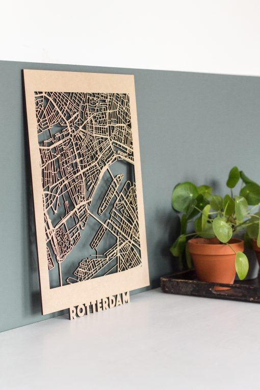 Citymap Rotterdam 30x40 MDF 2