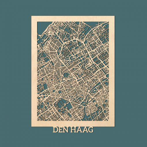Den Haag Citymap 50x70cm Berken Render