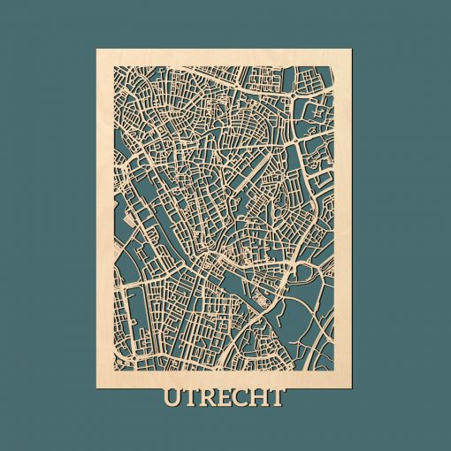 Utrecht Citymap 50x70cm Berken Render
