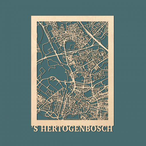 sHertogenbosch Citymap 50x70cm Berken Render