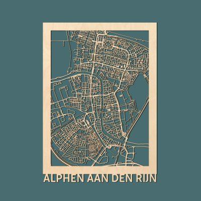 Alphen aan den Rijn Citymap 50x70cm Berken Render