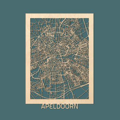 Apeldoorn Citymap 50x70cm Berken Render