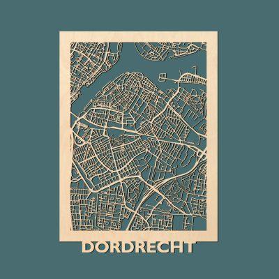 Dordrecht Citymap 50x70cm Berken Render