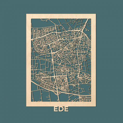 Ede Citymap 50x70cm Berken Render