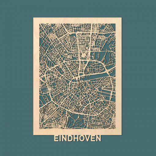 Eindhoven Citymap 50x70cm Berken Render