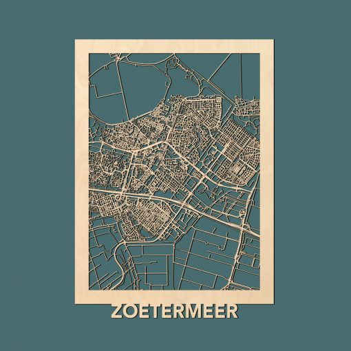Zoetermeer Citymap 50x70cm Berken Render